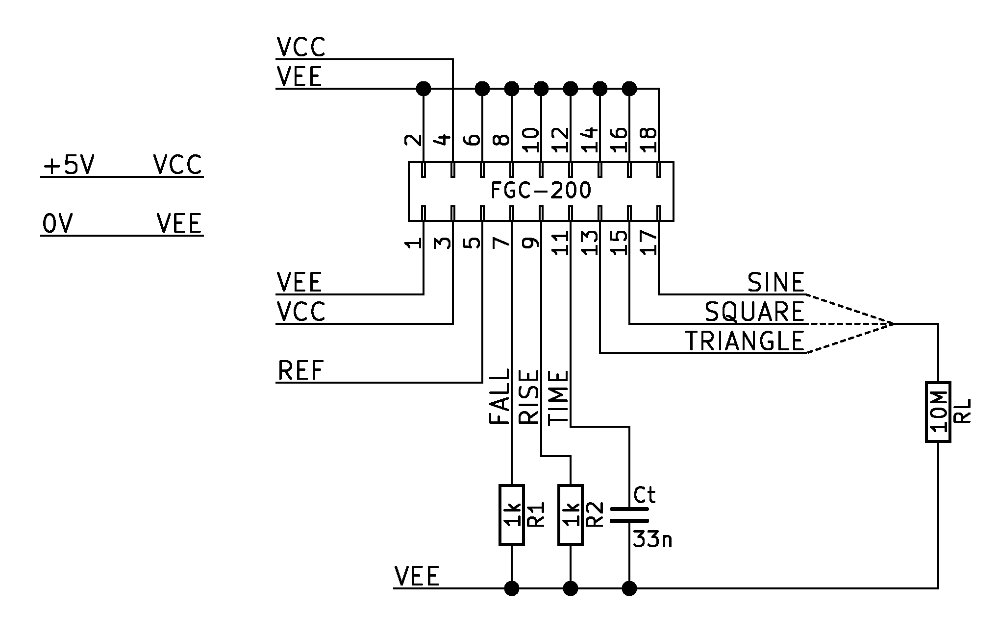High Frequency Transistorized Function Generator Pulse Or Waveform Circuit Characteristics Schematic