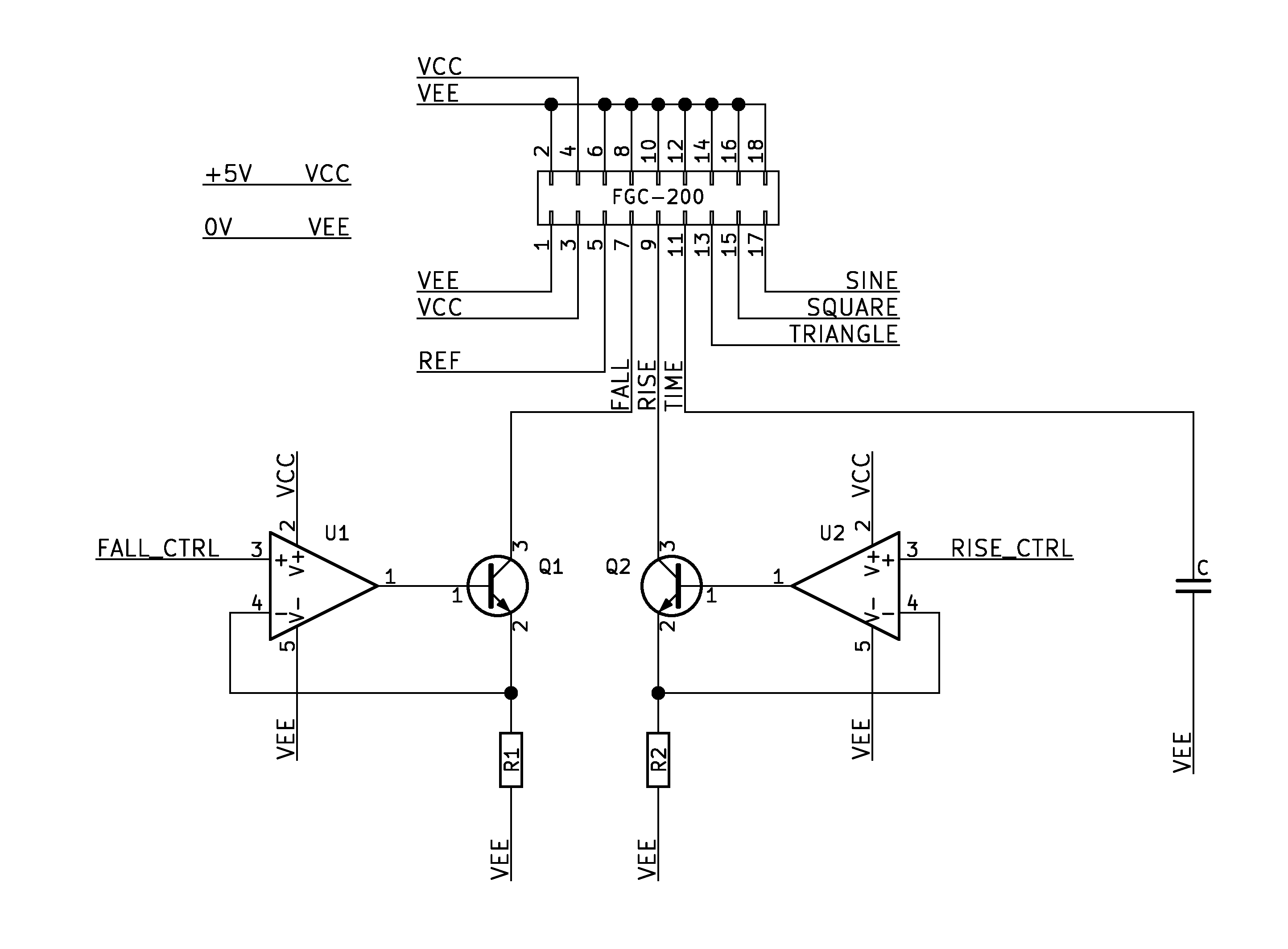 High Frequency Transistorized Function Generator Making Huge Change In Of Oscillator Schmitt Trigger Opamp Direct Couple Control
